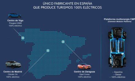 GROUPE PSA, ÚNICO FABRICANTE QUE PRODUCE TURISMOS 100% ELÉCTRICOS EN TODAS SUS PLANTAS EN ESPAÑA