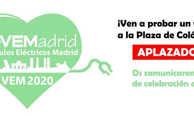 VEM 2020 (Vehículos Eléctricos Madrid) aplazado hasta 2021
