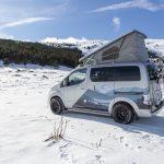 Accesorios originales Nissan para disfrutar de la naturaleza en la e-NV200 Winter Camper
