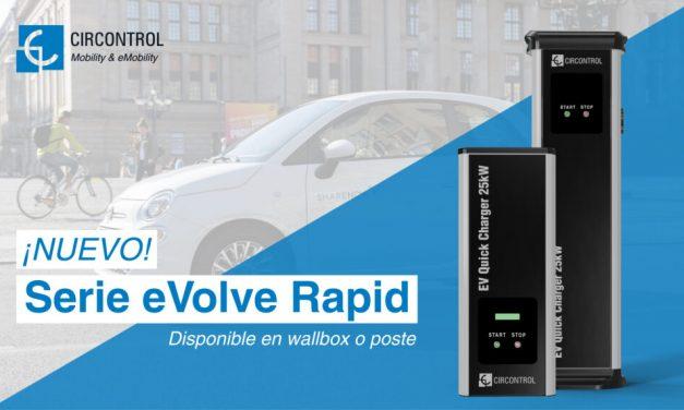 Nueva eVolve Rapid: la nueva gama de cargadores de 25 kW de Circontrol.